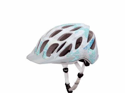 Realm helmet white/blue honeycomb